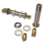 Stainless Steel Brakes Thru-Frame Fitting Kits, Fitting, Brake, 3 in., Thru-Frame, Stainless Steel, Polished, Female 1/ 4 in. to Female 1/ 4 in. Thread, Kit