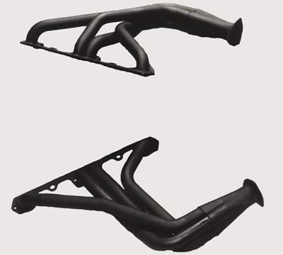 Hooker Competition Headers, Headers, Competition, Fenderwell, Steel, Painted, Jeep, CJ5/ CJ6/ CJ7, 290-401, Pair
