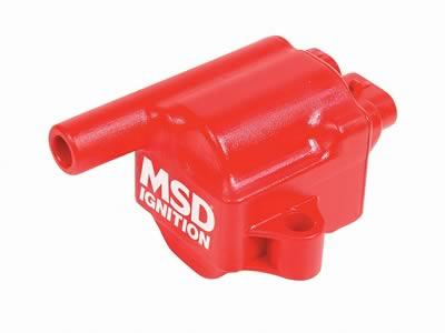 Ignition Coils, MSC II Coil Pack, Square, Epoxy, Red, GM, Truck/ SUV, Set of 8