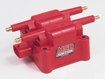 MSD Sport Compact Replacement Coils, Ignition Coil, DIS Performance Replacement, Square, Epoxy, Red, 36,000 V, Each