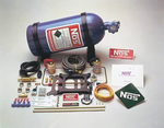 NOS Super Powershot Nitrous Oxide Systems, Nitrous Oxide System, Super Powershot, Wet, 100/ 125/ 150 hp, 10 lb. Bottle, Blue, Square Bore, 4-Barrel, Kit
