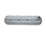 GM Performance Parts Die-Cast Aluminum Valve Covers, Valve Covers, Cast Aluminum, Natural, Competition, Chevrolet Logo, Chevy, Small Block, LS, Each