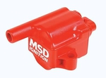 MSD MSC II Coil Packs, Ignition Coil, MSC II Coil Pack, Square, Epoxy, Red, GM, Truck/ SUV, Each