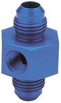 "6AN Male to -6AN Male with 1/8"" NPT, in Hex Pressure Gauge Adapter"