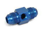 "8AN Male to -8AN Male with 1/8"" NPT in Hex Pressure Gauge Adapter"