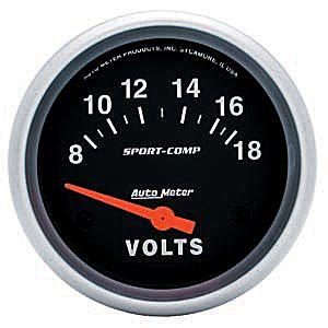 "2-5/8"" Sport Comp Electrical Voltemeter"