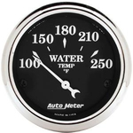 "2 1/16"" Old Tyme Black Electric Watter Temperature Gauge"