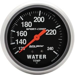 "2 5/8"" Sport Comp 120 deg to 240 deg Mechanical Water Temperature Gauge"