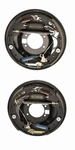 Ford Racing Drum Brake Backing Plate Kits, Backing Plate Kit, Drum Brake, Steel, Black, 11 in. Diameter x 2.25 in. Width, Ford, 9 in. Housing, Kit M-2209-B