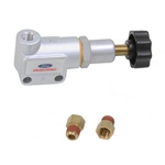 Ford Racing Brake Proportioning Valves, Brake Proportioning Valve, Knob Adjustment, 1/8 in. NPT, Single Inlet/Outlet, Aluminum, Natural, Each M-2328-C*