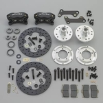 Wilwood Dynalite Drag Race Front Disc Brake Kits, Disc Brakes, Front, Drag Race, Cross-Drilled Rotors, 4-Piston Calipers, GM, Kit