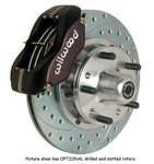Wilwood Dynalite Pro Series Disc Rear Parking Brake Kits, Disc Brakes, Rear, Dynalite Pro, Cross-Drilled Rotors, Black, 4-Piston Calipers, Chrysler/ Dodge/ Plymouth, Ki...