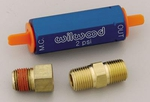 Wilwood Residual Pressure Valves, Residual Pressure Valve, Blue Anodized, 2 psi, Disc Brakes, 1/ 8 in. NPT Female Inlet/ Outlet, Each