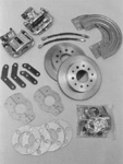 Stainless Steel Brakes Rear Disc Brake Conversion Kits, Disc Brakes, Rear, Solid Rotors, 1-Piston Calipers, GM, 10-Bolt/ 12-Bolt, Kit