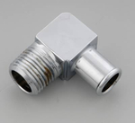 Gardner-Westcott Hose Barb to Pipe Fittings, Fitting, Brass, Chrome, 90 Degree, 5/ 8 in. Hose Barb to 3/ 8 in. Male NPT, Each