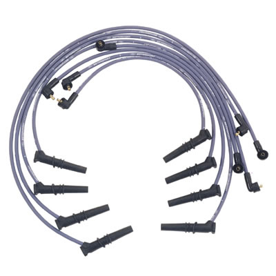 Ford Racing Spark Plug Wire Sets, Spark Plug Wires, Spiral Wound, 9mm, Blue, 45 Degree Boots, Ford, Mustang, 4.6L, V8, Set