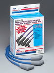 Ford Racing Spark Plug Wire Sets, Spark Plug Wires, 9mm, Blue, Spiral-Wound, 45 Degree Boots, Ford/ Lincoln/ Mercury, 5.0/ 5.8L, Set