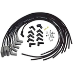 Ford Racing Spark Plug Wire Sets, Spark Plug Wires, Spiral Wound, 9mm, Black, 45 Degree Boots, Ford, V8, Set