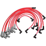 Ford Racing Spark Plug Wire Sets, Spark Plug Wires, Spiral Wound, 9mm, Red, 45 Degree Boots, Ford/ Lincoln/ Mercury, 5.0/ 5.8L, V8, Set