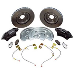 Ford Racing 2005-08 Mustang GT 14 in. Brake Upgrade Kits, Brake Upgrade, Front, 14 in. Solid Surface Discs, 4-Piston Calipers, Black Anodized, Mustang GT 2005-08, Kit