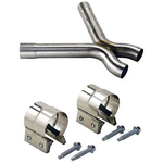 Ford Racing X-Pipes, Crossover Pipe, X-Pipe, Stainless Steel, Natural, 2.5 in. Diameter, Ford, Mustang GT, 4.6L, Kit