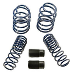 Ford Racing Lowering Spring Kits, Lowering Springs, Front and Rear, Blue Powdercoated, Ford, Mustang GT, Set of 4