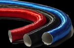 Thermo-Tec Thermo-Flex Aluminum Heat Shield Sleeves, Heat Barrier Shield, Thermo-Flex, Wires/ Hoses, Blue, Slide-over, 1 in. I.D. x 36 in., Each