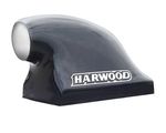 Harwood Fiberglass Dragster Scoops, Hood Scoop, Big-O, 22 in. Long, 13 3/ 4 in. Wide, 16 in. Tall, Fiberglass, Black Gelcoat, Each