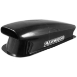 Harwood Fiberglass Aero Scoops, Hood Scoop, Aero I, 40 1/ 2 in. Long, 17 1/ 2 in. Wide, 12 in. Tall, Fiberglass, Black Gelcoat, Each