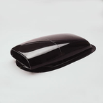 Harwood Fiberglass Aero Scoops, Hood Scoop, Aero Mini II, 31 1/ 2 in. Long, 15 in. Wide, 7 in. Tall, Fiberglass, Black Gelcoat, Each