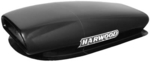 Harwood Fiberglass Aero Scoops, Hood Scoop, Aero III, 35 in. Long, 17 in. Wide, 7 1/ 2 in. Tall, Fiberglass, Black Gelcoat, Each