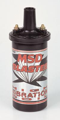 MSD Blaster High Vibration Ignition Coils, Ignition Coil, Blaster High Vibration, Canister, Epoxy, Black, 45,000 V, Each