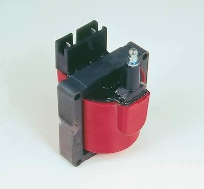 MSD Blaster TFI Coils, Ignition Coil, Blaster Performance Replacement,  E-Core, Square, Epoxy, Red, 48,000 V, Ford, TFI, Each