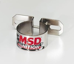 MSD Chrome Coil Brackets, Coil Bracket, Steel, Chrome, Canister-Style, Universal, Each
