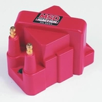MSD Blaster OEM Replacement Coils, Ignition Coil, DIS Performance Replacement, E-Core, Square, Epoxy, Red, 40,000 V, GM, Each