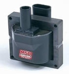 MSD Blaster OEM Replacement Coils, Ignition Coil, Blaster Performance Replacement, E-Core, Square, Epoxy, Red, 40,000 V, GM, Each