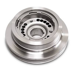 SLP Performance Parts Underdrive Balancer Pulleys, Harmonic Balancer/ Crank Pulley, Underdrive, Steel, Silver Zinc Chromate, Chevy, Corvette, 5.7/ 6.0L, Each