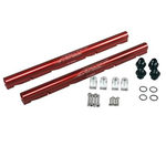 COMP Cams FAST LSX High Flow Billet Fuel Rails, Fuel Rails, Aluminum, Red Anodized, Chevy/ Pontiac, Camaro/ Firebird 1998-2002, 5.7L, Pair