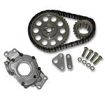SLP Performance Parts LS1 Oil Pump and Timing Chain Packages, Timing Chain/ Oil Pump, Double Roller, Steel/ Steel Sprockets, Chevy, LS1/ LS6, Small Block, Set