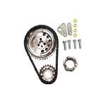 SLP Performance Parts LS2 Double-Roller Timing Chain Sets, Timing Chain Kit, Double Row Chain, Cam Gear, Crank Gear, Two Oil Pump Spacers, Chevy, Small Block, LS2, Kit