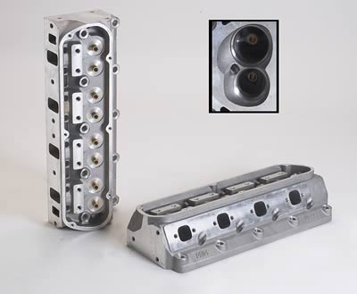 (2) Dart Pro 1 Aluminum Cylinder Heads, Cylinder Head, Pro 1, Aluminum,  Assembled, 62cc Chamber, 175cc Intake Runner, Ford, 289/ 302/ 351W, Each
