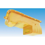 Milodon Street and Strip Oil Pans, Oil Pan, Steel, Gold Iridited, 7 qt., Ford, 289/ 302, Each
