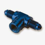 "-3AN Male with 1/8"" NPT Female Port, Pressure Gauge T-Fitting"