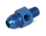 "8AN Male to 1/4"" NPT with 1/8"" NPT in Hex Pressure Gauge Adapter"