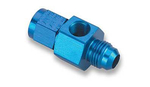 "6AN Male to -6AN Female with 1/8"" NPT in Hex Pressure Gauge Adapter"