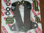 "Caliper Bracket Kit, for wiilwood calipers on Heidt's 2"" drop Mustang 2 spindles"
