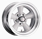 American Racing 3095761 - American Racing TTO Wheels, Wheel, Torq-Thrust, Aluminum, Polished/Gray, 15 in. x 7 in., 5 x 4.75 in. Bolt Circle, 3.75 in. Backspace