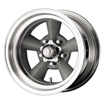 American Racing 3095765 - American Racing TTO Wheels, Wheel, Torq-Thrust, Aluminum, Polished/Gray, 15 in. x 7 in., 5 x 4.5 in. Bolt Circle,3.75 in.Backspace,Each