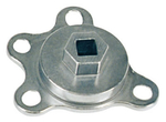 Engine Rotation Adapter, Steel, Balancer Mount, 1/2 in. Drive, Chevy/Ford, V8, Each