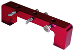 Dial Indicator Stand, Aluminum, Red Anodized, Magnetic Deck Bridge, 4 1/2 in. Bore Span, Each